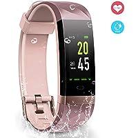 YoYoFit Orologio Fitness Activity Tracker, IP68 Impermeabile GPS Contapassi da Polso Pedometro Cardiofrequenzimetro Pedometro Compatibile con iOS Android a Calorie Uomo Donna Bambini
