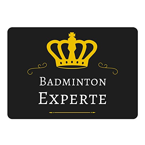 Mousepad Badminton Experte schwarz