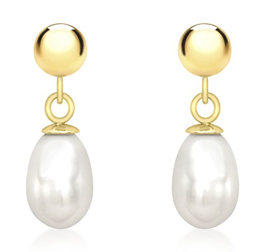 carissima-gold-9ct-yellow-gold-freshwater-pearl-drop-earrings