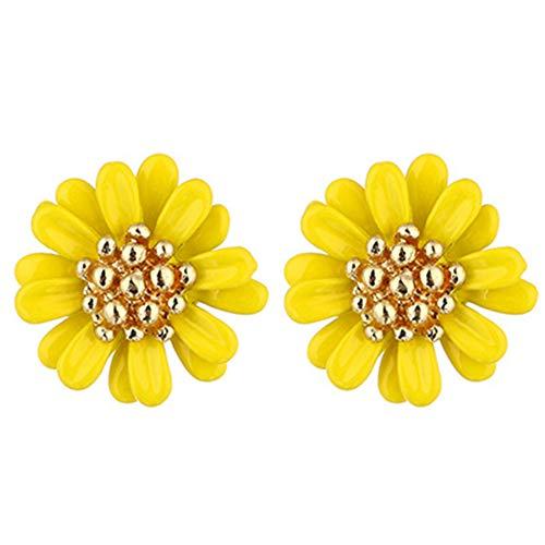 Homeofying Frauen Mode Daisy Blume Ohrstecker Ohrringe Hochzeitsgeschenk Schmuck Zubehör Ohrringe für Frauen Gelb - Blume-bälle Daisy