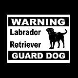 Personalized car stickers 13 cm x 9,8 cm Personalità stile Labrador Retriever avviso guardia cane auto coda autoadesivo dell'automobile csfssd (Color : White)