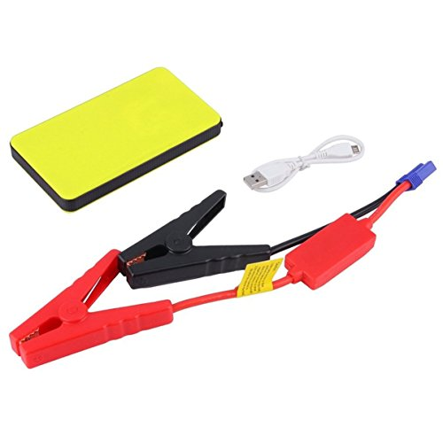 Notfall Booster Ladegerät Pack, tragbare Auto Jumper mit Ausgang USB Ports, Power Bank mit Taschenlampe, Auto Notfall Batterie für Camping, Reisen, Gelb ()