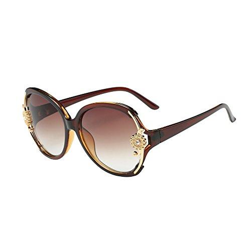 Mode Frauen Blume Dekoration Shades Sonnenbrille Integrierte UV-Brille YunYoud Große Box der...