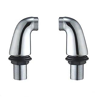 The Home Store Bathroom Chrome Bath Mixer Tap Legs Adapter Pillar