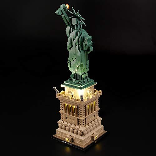 LIGHTAILING Conjunto de Luces (Architecture Estatua de la Libertad) Modelo de Construcción de Bloques - Kit de luz LED Compatible con Lego 21042 (NO Incluido en el Modelo)