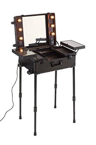 Maquillage visagisten studio visagistenkoffer rangement pour réglable avec variateur d'intensité