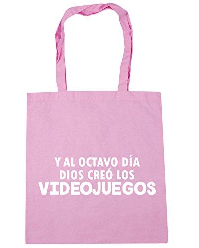 HippoWarehouse Y Al Octavo Día Dios Creó Los Videojuegos Bolso de Playa Bolsa Compra Con Asas para gimnasio 42cm x 38cm 10 litros capacidad