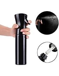 Xiton Spray vide Pulvérisateur de brume fine Bouteille de pulvérisation d'eau Continu Vaporisateur Bouteille de giclée vide rechargeable pour gribouillage de coiffures, noir,1 pièce,300ml