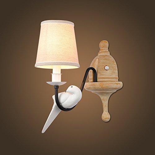 Bambus-schlafzimmer Kopfteil (Wandleuchte Wandlampe Wohnzimmer Schlafzimmer Kopfteil Stoff Vögel der kontinentalen Kunst Wandleuchte , ordinary)