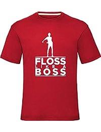"""Floss Like a Boss T-Shirt Boys Girls Kids Adults Tee Top Red Medium (Chest 40"""")"""