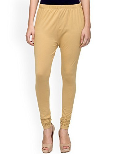 PI World Premium Leggings Churidar Ankle Length made of Soft Stretch Comfortable Breathable Cotton Mix Lycra Solid colors (Multi Color Free Size XL 30 to 36 Inches XXL 34 - 40 Inches Waist)