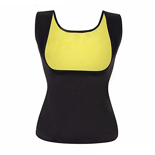 Abnehmen Body Shaper für Frauen Bauch Fett Brenner Hot Schweiß Sauna Weste Tank Top Gewicht Verlust-kein Reißverschluss schwarz von balabalam, schwarz (Kalorien Von Fett-verlust)