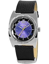 Excellanc 295023000095 - Reloj analógico de cuarzo para hombre, correa de cuero color negro