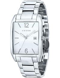 Cross CR8001-22 - Reloj para hombres, correa de acero inoxidable color plateado