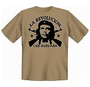 Revolution T-Shirt Che Guevara - La Revolucion (Größe: S) in sand