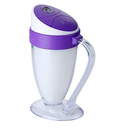 XGMSD Copas Humidificador USB Gastos De La Familia Humidificador Aromaterapia Tanque De Agua De 110 Ml De Capacidad Diámetro 9,5 Cm De Largo 6,5 Cm De Ancho 14.5cm De Alto,Purple
