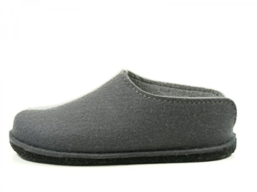 Haflinger  Flai-Smily-Duo,  Pantofole unisex adulto Grau