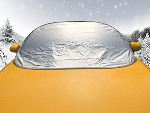 LykusSource Cubierta de Parabrisas de Auto, Cubierta de Nieve, Parasol de Coche, Protector contra la Nieve, Hojas Caídas, Guanos, Polvos, Instalación Rápida,Plegable Dentro de Cinco Segundos,139x103cm