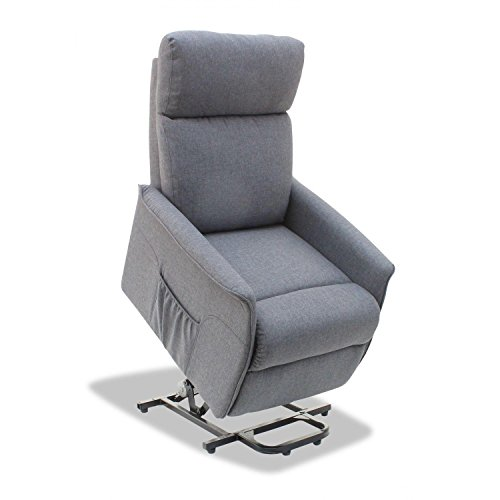 Muebles Baratos Sillon Relax Levanta Personas sillón tapizado en Gris salón dormitorio ref-11