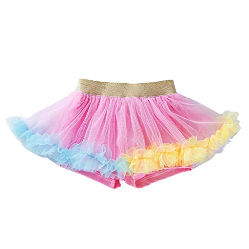 Fancy Tanzen Kostüm - WUSIKY Rock Mädchen, Neugeborenes Baby Mädchen Tanzen Tutu Rock Pettiskirt Ballett Fancy Costume(73,Rosa)