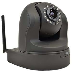 Foscam FI9826W drehbare und schwenkbare HD IP WLAN Kamera / Überwachungskamera mit 1.3 MP, 3fachem optischen Zoom, Bewegungserkennung, IR Nachtsicht, integriertem microSD-Kartenslot - schwarz