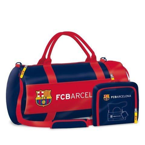 Exclusiv FC Barcelona Sporttasche Reisetasche Fußballtasche 2 in 1 -55x28x28cm-EDEL -