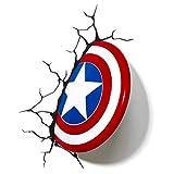 Captain America 3D Wandleuchte Nachtlicht, Wandsticker, Kind, Junge, Mädchen, Weihnachtsgeschenk , Wandlampe