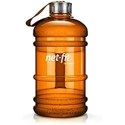 Dual – Botella / jarra de agua / 2,2 litros de agua / botella de agua / botella / perfecta para las necesidades diarias de agua / Ideal para el entrenamiento, condicionamiento físico y deporte / botella de agua / dosis óptima de agua durante todo el día.