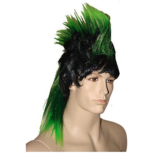 ün Strähnen Frisur Irokese mehrfarbig ()
