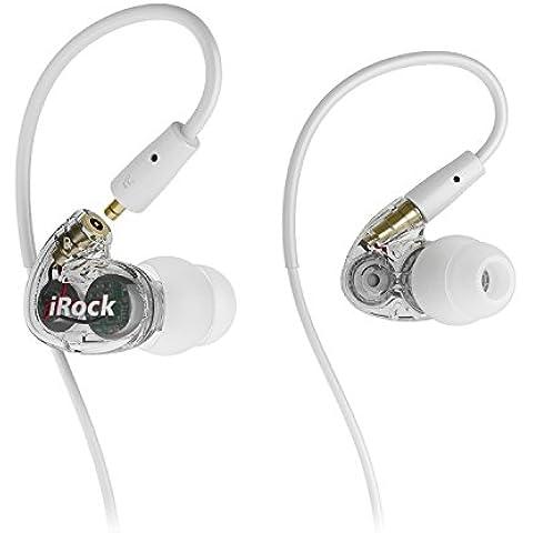 GranVela® A8 de dos transductores con auriculares de botón, auriculares Sport estéreo con cable con micrófono y auriculares que aíslan el ruido, dinámico sonido Crystal Clear, ergonómico de ajuste cómodo para correr, entrenamiento, gimnasio