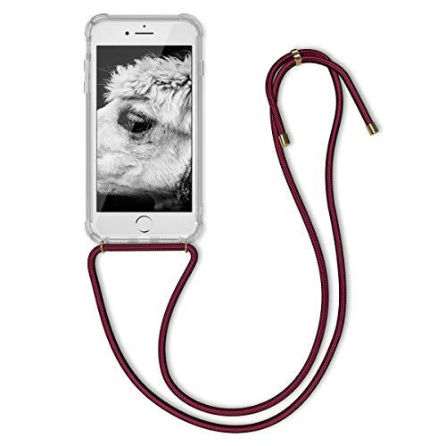 kwmobile Funda con Cuerda para Apple iPhone 7/8 - Carcasa Transparente de TPU...
