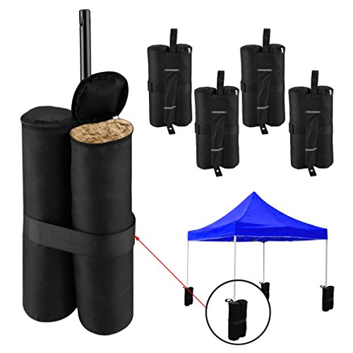 Gazebo Leg Sandbag Weights x4 - Pies ponderados para Gazebo, Tent, Marquee Anchors - Empty Sandbag Weights