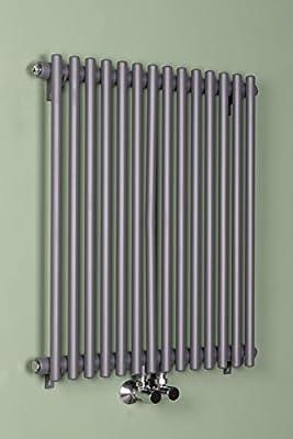 Designheizkörper Designer Heizung Vertikal 682x580mm Grau von Wärmehaus auf Heizstrahler Onlineshop