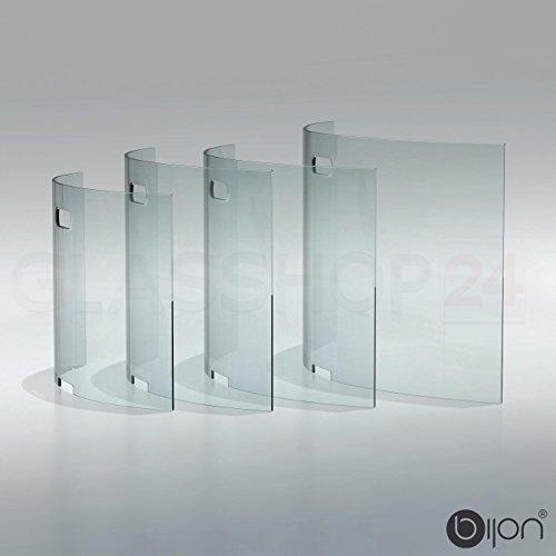 glasshop24 bijon® Kamin Ofen Glas Funkenschutzgitter Funkenschutz Schutzgitter | 95x55x21cm (BxHxT)