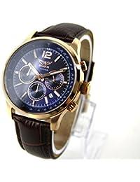 Aviator Hombre Reloj de pulsera Watch Cronógrafo avw1812g283piel marrón, caja: Rose