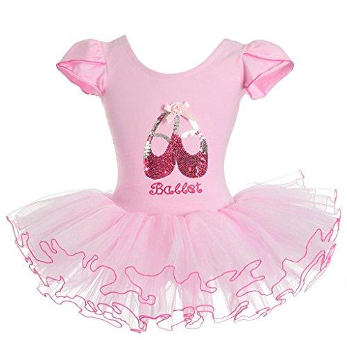 Lito Angels Girls' Sequined Ballerina Shoe Ballet Tutus Dancewear Fairy Dresses