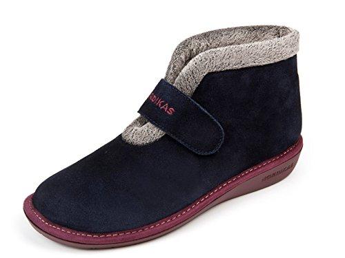 Pantofole donna nordika (38, blu marino3)