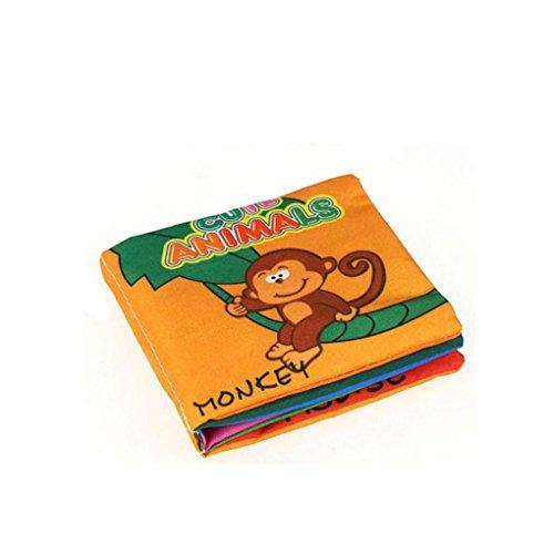QHGstore Weiche Tuch Bücher Rustle Sound Säugling Early Learning Pädagogischer Kinderwagen Rattle Toy