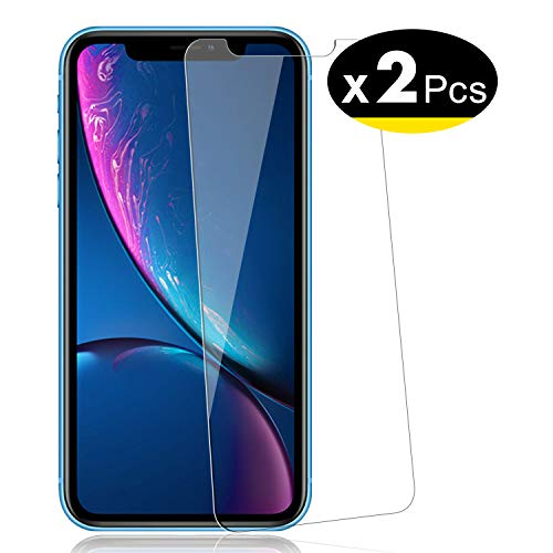 "NEW'C Verre Trempé pour iPhone 11 / iPhone XR (6.1""), [Pack de 2] Film Protection écran - Anti Rayures - sans Bulles d'air -Ultra Résistant (0,33mm HD Ultra Transparent) Dureté 9H Glass"