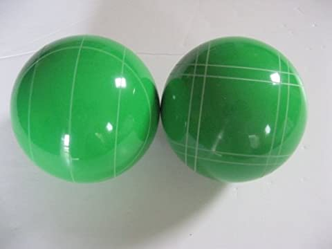 Replacement EPCO Bocce Balls with mix of stripes - 2 Pack of light green 107mm