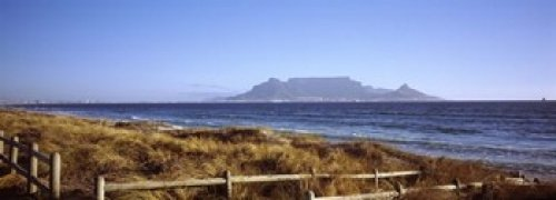 Table Mountain In Cape Town (Panoramic Images - Sea with Table Mountain in the background Bloubergstrand Cape Town Western Cape Province South Africa Photo Print (91,44 x 33,02 cm))