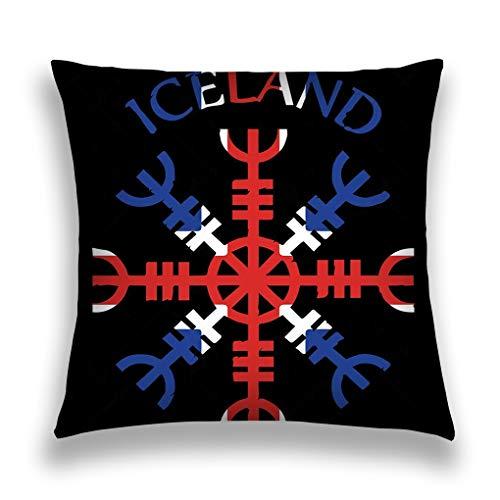 Kissenbezüge Throw Pillow Case Cushion Cover Home Sofa Decorative 18 X 18 Inch Helm awe Helm Terror Icelandic Magical Staves aegi (Aegis Helm)