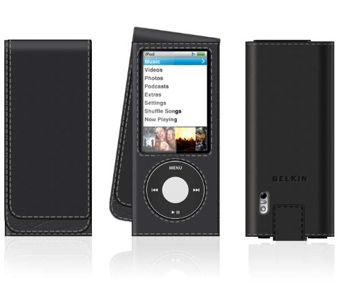 Belkin Leder Folio für Apple iPod nano 5G, schwarz - Apple Ipod Leder