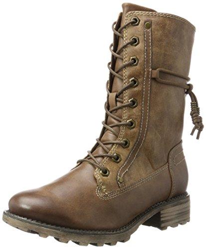 Tamaris Damen 26217 Combat Boots, Braun (Muscat), 39 EU (Damen Boot Schuhe)