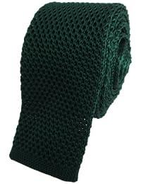 Dark Green Skinny Knitted Tie