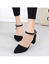 KPHY-La Primavera La Mujer A Comienzos De La Primavera Joker Sandalias  Zapatos De Tacón d5696cc78838