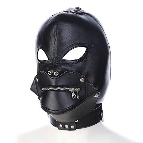 SLH Halloween Devil Head Set Dress Up Paar Spiel mit Reißverschluss Wählen Sie Leder Paar Maske Binding Passion