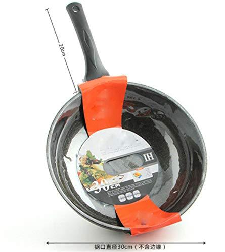 XIYANG Wok, sin Humo y Antiadherente Ahorro de energía y protección del Medio Ambiente Cocina de inducción Minghuo Doble Uso Profundización Engrosamiento 30 cm