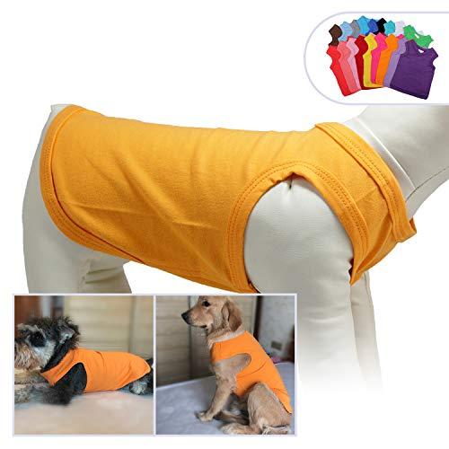 longlongpet 2019 Haustier-Kostüm, Welpen, Hundekleidung, Leere T-Shirts für große, mittelgroße und kleine Hunde, 100% Baumwolle, Klassische Haustierkleidung Welpen, Hundeweste, 18 Farben