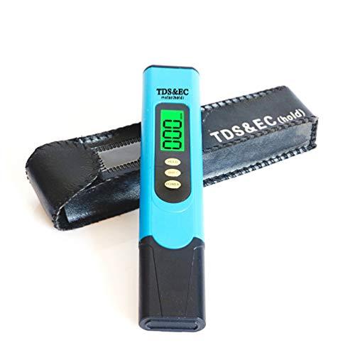 Lin-Tong Tds-Wasserqualitätsprüfgerät, 5 in 1 mit Hintergrundbeleuchtetem Bildschirm, Ec- und Temperatur-Wassertest-Kit Digitales Tds-Messgerät für Trinkwasserschwimmbecken -